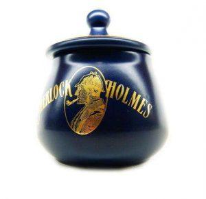 Sherlock Holmes blue tobacco jar