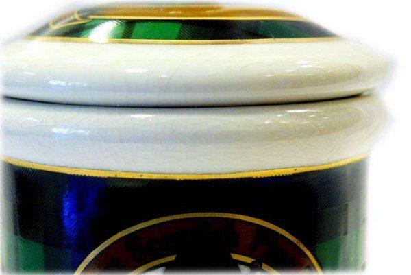 The green bagpiper jar