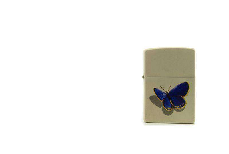 Zippo white butterfly