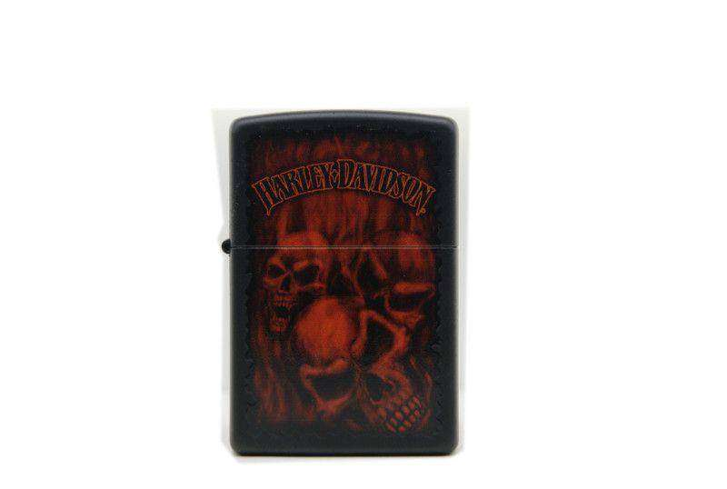 Zippo Harley Davidson red skulls