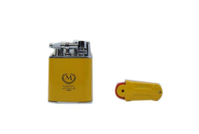Myon double jet flint Lighter giallo