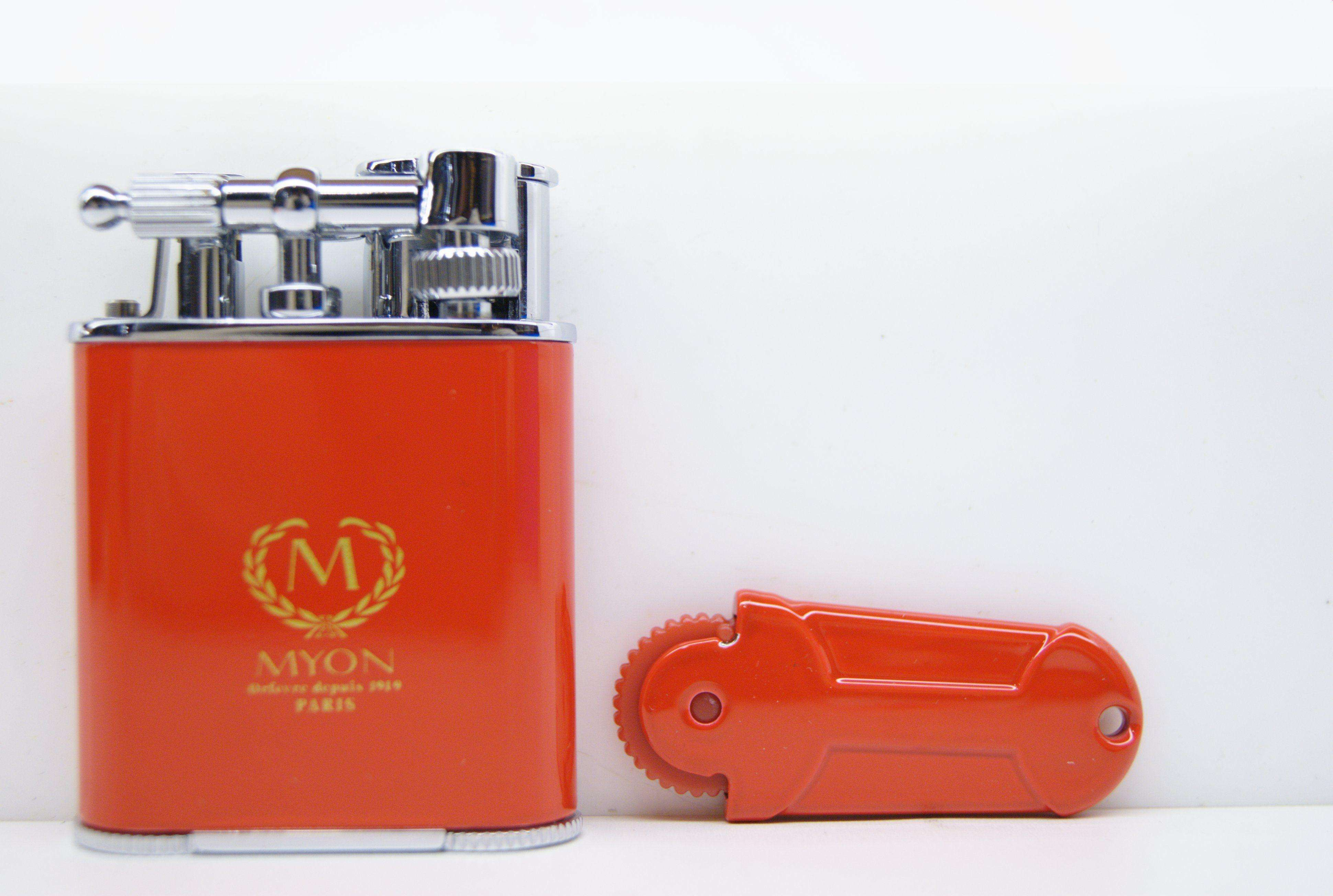 Myon double jet flint Lighter rosso
