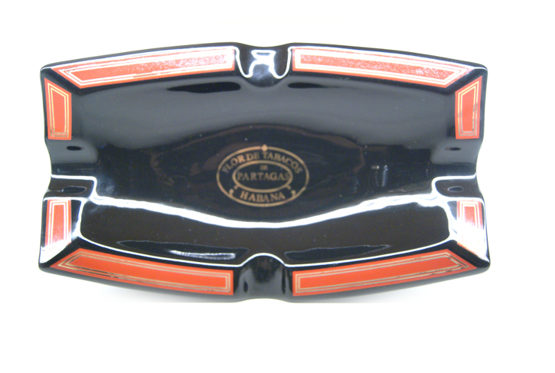 Partagas cigar  Ashtray black and red
