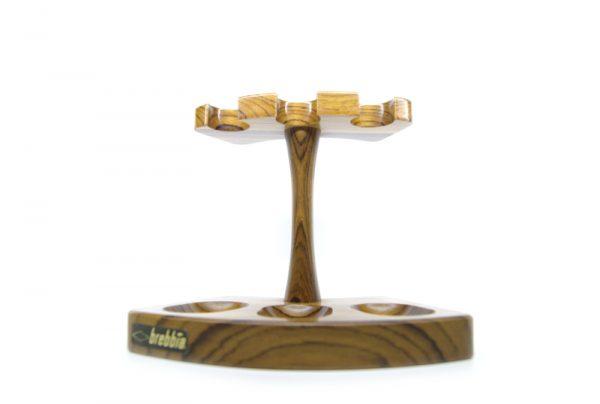 Brebbia   three pipe rack in olive wood