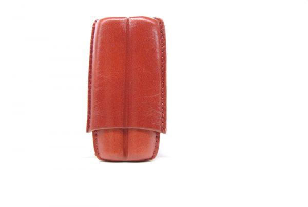 Lubinski cigar case per 2 toscani Rosso