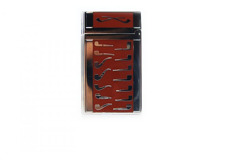 Lubinsky silver and red pipe Lighter.
